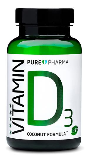 PurePharma D3 Coconut Formula - 120 capsules