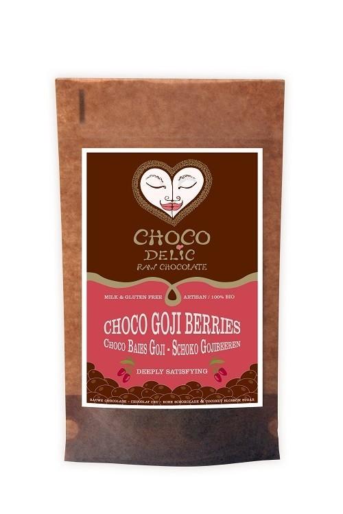 CHOCOdelic Goji bessen omhuld met rauwe chocolade - 70 Gram