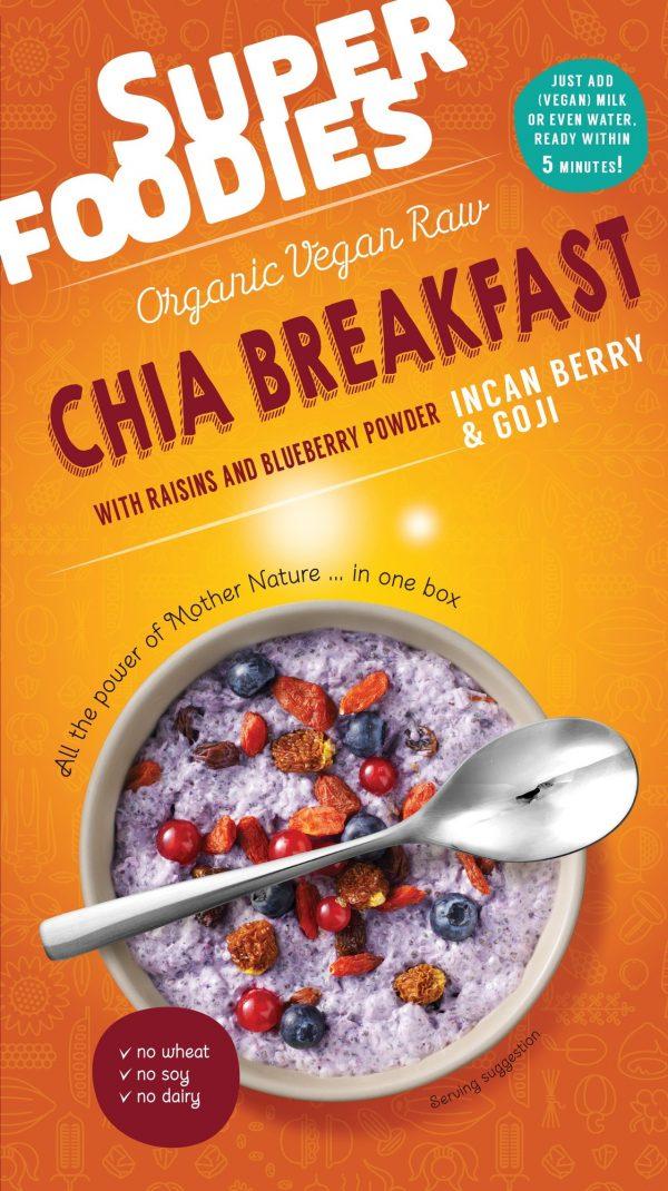 Chia ontbijt Goji & Incabessen - Superfoodies - 200 gram
