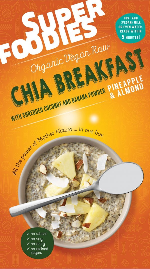 Chia ontbijt Ananas & Amandel - Superfoodies - 200 gram