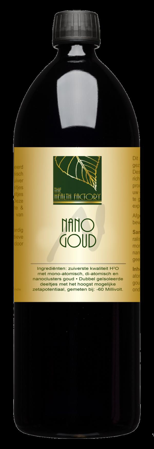 Nano Mineraal Water (Colloïdaal goud) - 1 liter - The Health Factory