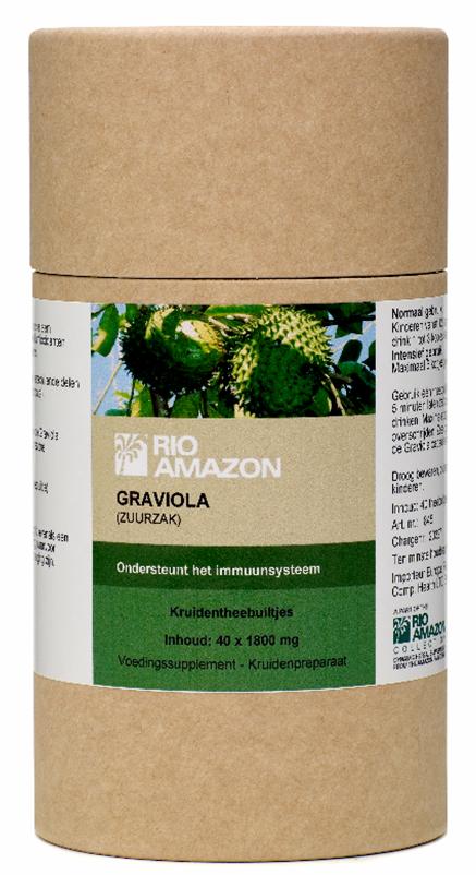 Graviola/zuurzak - 40 kruidentheebuiltjes (Rio Amazon)