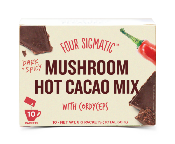 Mushroom Hot Cacao Mix met Cordyceps - 60 gram (Four Sigmatic)