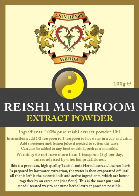 Reishi Mushroom Herbal Extract, Lion Heart Herbs - 100 gram