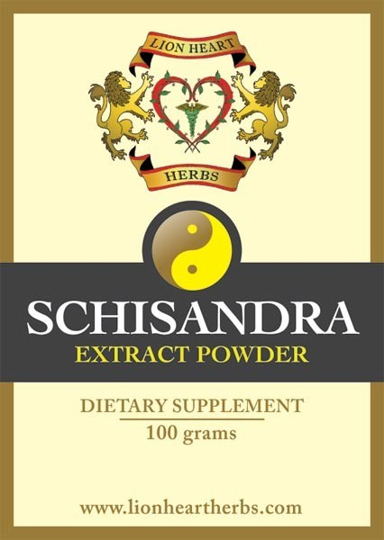 Schizandra Herbal Extract, Lion Heart Herbs - 100 gram
