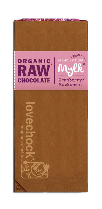 Lovechock Tablets Cranberry/Buckwheat MYLK - 70 gram