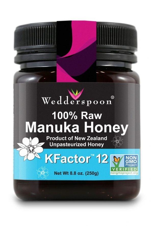 Manuka Honing, Rauw (KFactor 12), Wedderspoon – 250 gram