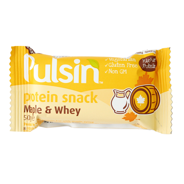 Pulsin´ Maple & Whey Crisp Protein - 50 gram