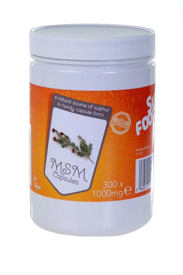 MSM capsules - Superfoodies - 300 capsules