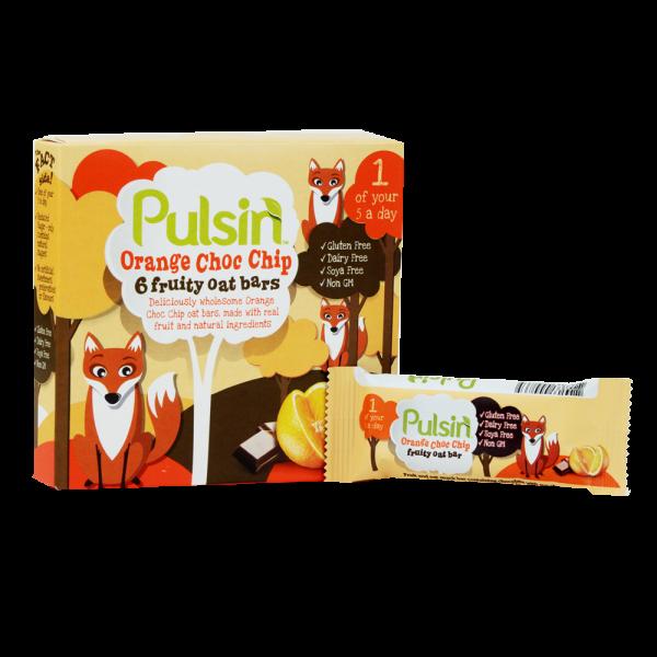 Pulsin' Kids Orange Choc Chip Fruity Oat Bar – 6 x 25 gram