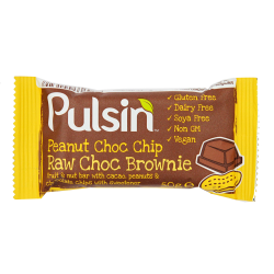 Pulsin´ Peanut Choc Chip Raw Choc Brownie - 50 gram