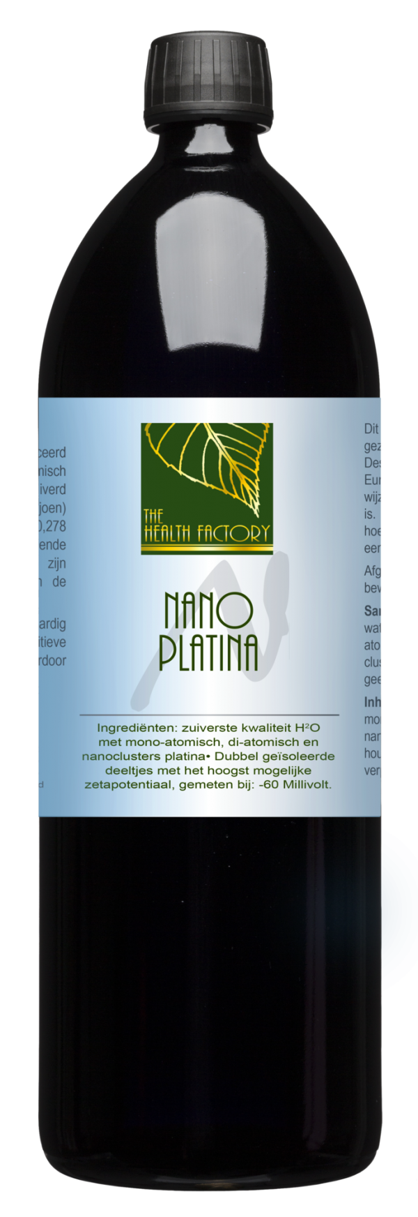 Nano Mineraal Water (Colloïdaal platina) - 1 liter - The Health Facto