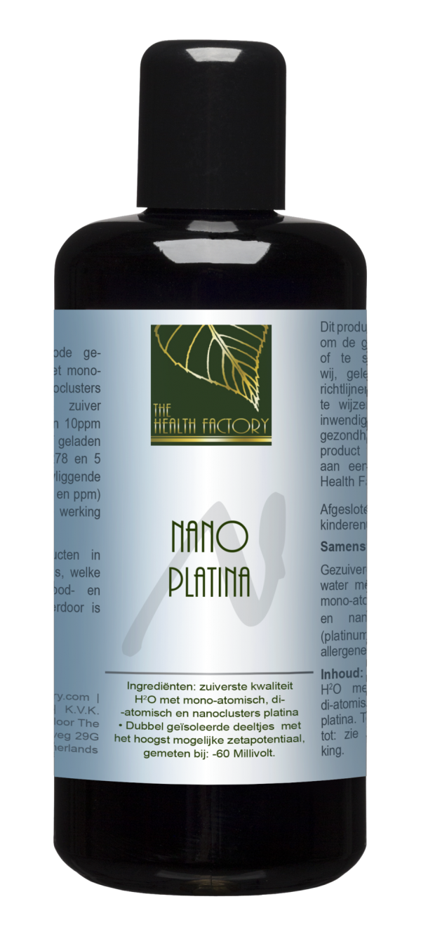 Nano Mineraal Water (Colloïdaal platina) - 200 ml - The Health Factor