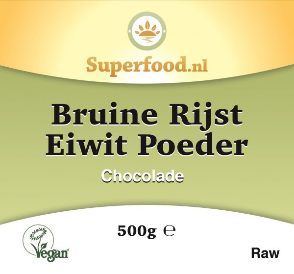 Bruine rijst eiwit poeder Chocolade - Superfood.nl - 500 gram