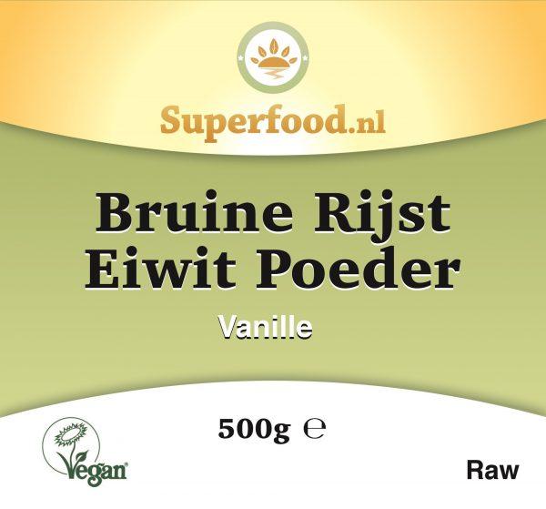Bruine rijst eiwit poeder Vanille- Superfood.nl - 500 gram
