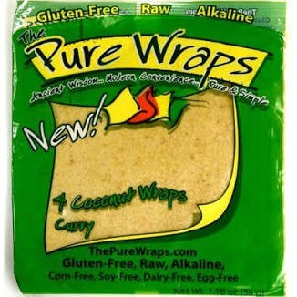 Vegetarische Wraps - Curry Coconut - 4 vellen/ 56 gram (Pure Wraps)