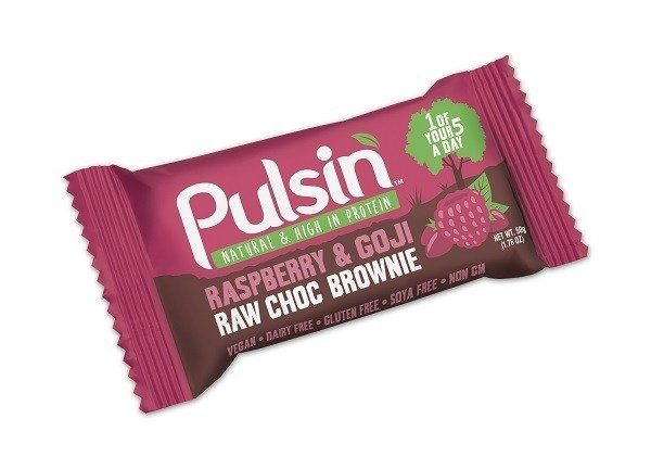 Pulsin´ Raspberry & Goji Raw Choc Brownie - 50 gram