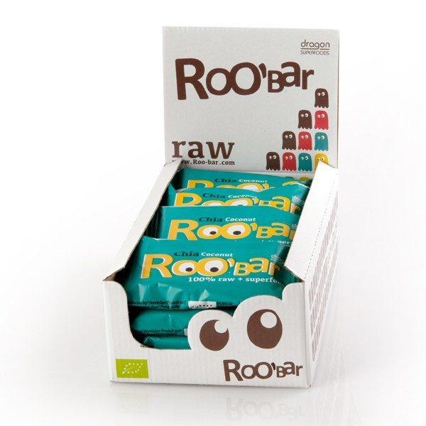 RooBar Chia & Kokosnoot - 50 gram - doos 16 stuks