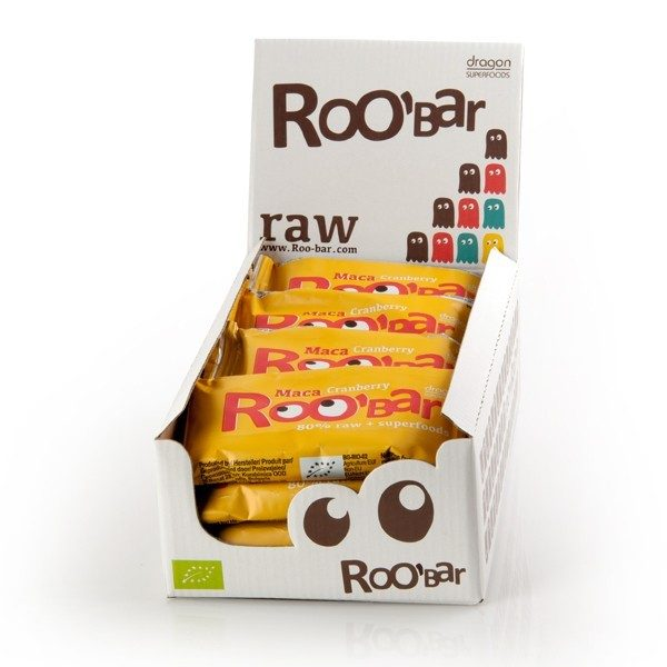 RooBar Maca & Cranberry - 50 gram - doos 16 stuks