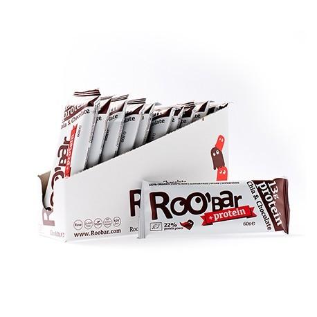 Roo´Bar Chia & Chocolate Proteïne (60 gram) - doos 12 stuks