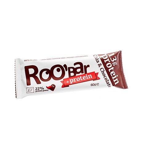 Roo´Bar Chia & Chocolate Proteïne (60 gram)