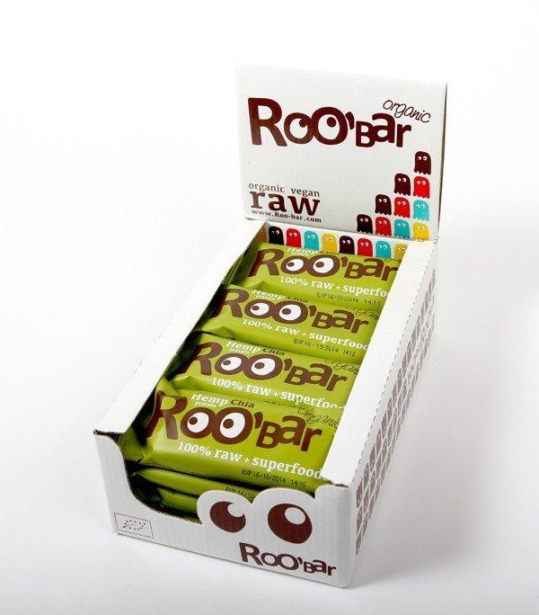 Hemp Protein & Chia reep - 50 gram/ doos 16 stuks (RooBar)
