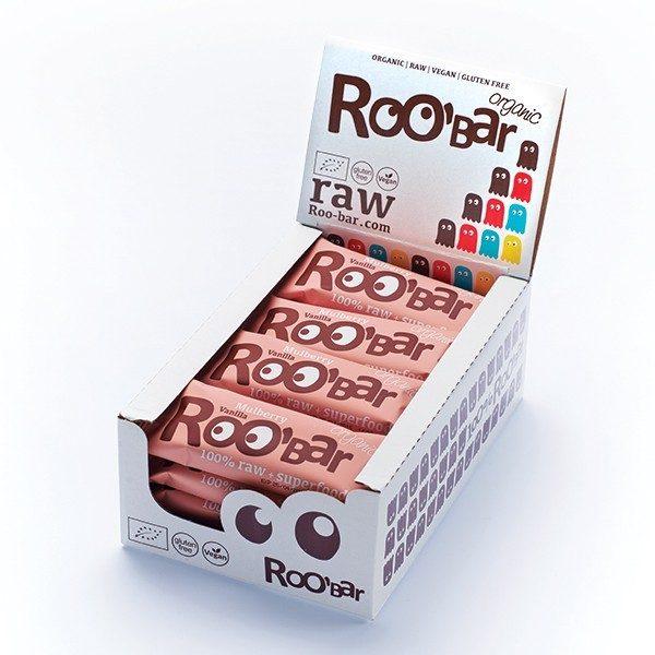 Mulberry & Vanilla reep - 50 gram/ doos 16 stuks (RooBar)