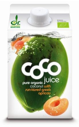 Kokoswater Sun-kissed Greek Apricots - 1 pakje à 500 ml (Dr. Martins)