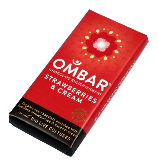 Ombar Strawberries & Cream - 35 gram