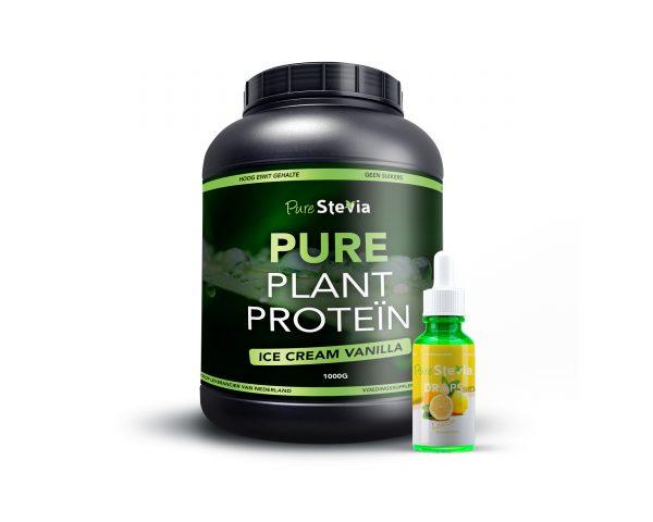 Pure plant protein lemon